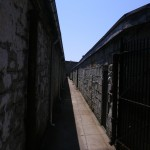 This alley leads to the prison synagogue built with money donated by Jewish charities.