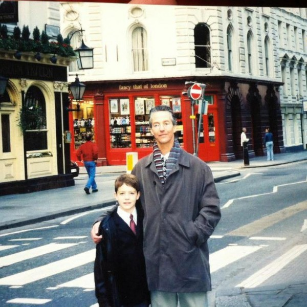 Mark and his son, circa 2004.